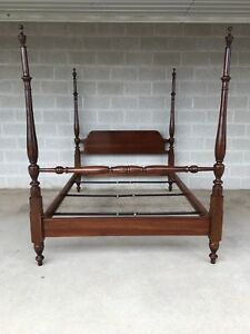 Ethan Allen Cherry Chippendale Style Full Poster Bed Model31 5629 Finish 227