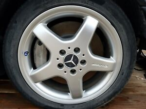 03 04 Mercedes W209 Clk500 Clk320 Clk55 Amg Wheels Rim Set Of 4 17 Oem
