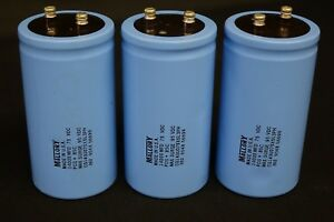 Qty3 Mallory 14000 Uf 75vdc Electrolytic Filter Capacitor 85c New