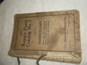 Early Massey Harris Repair Parts Catalog Plows Listers Spreader And More