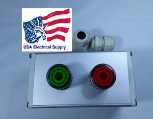 New Iluminate Push Button Switch Station Start Stop 110 250vac