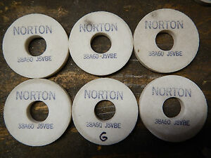 New Old Stock Norton Grinding Wheels Tool Post Od Grinder Lot G
