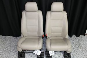 2013 2015 Ford Explorer Front Seats Tan Leather Pair Set