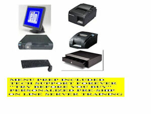 1 Computer Station Restaurant Pos Pizza Point Of Sale System Ursa 107