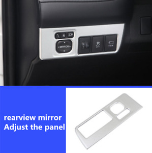 For Toyota Rav4 2013 2018 Abs Chrome Rearview Mirror Button Frame Cover Trim