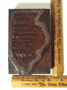 1930 s State Of Illinois Great Depression Special Driving Permit Printing Block