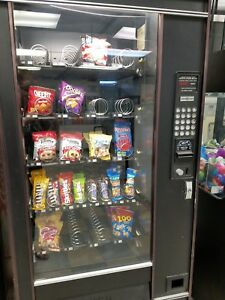 Snack Vending Machine Black 24 Coils Good Condition Snacks Included