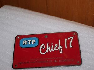 Vintage Atf Chief 17 Offset Printing Press Machine Part Lid Cover Rare