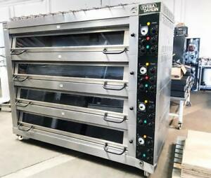 Sveba Dahlen Dc 44 Bakery Restaurant Equipment 16 Pan Electric 4 Deck Oven