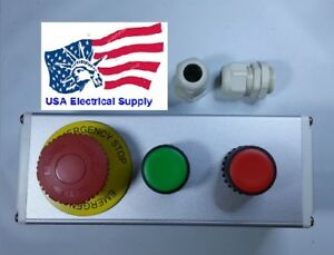 New Nc Emergency Stop No Red Green Momentary Push Button Switch Station 110 250v