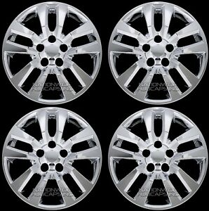 4 Fits Nissan Altima 2002 2018 Chrome 16 Wheel Covers Snap On Full Rim Hub Caps