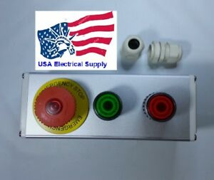 Nc Emergency Stop red Green Momentary Push Button Switch Station Light 110 250v