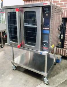 Lang Ecsf ez Full Size Restaurant Bakery Electric Convection Oven On Stand