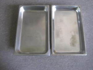 Lot Of 2 Stainless Steel Steam Table Pans 21 X 13 X 2 1 2