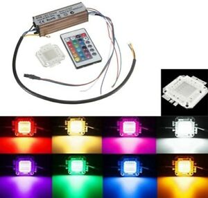 100w Rgb Chip Light Bulb Waterproof Led Driver Power Supply Remote Controller