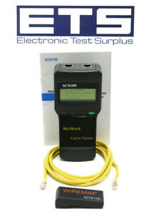 Network Cable Tester Sc8108 W Wiremap Mt8108 Adapter