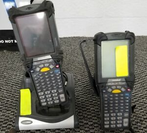 Lot Of 2 Symbol Pocket Pc Mc9060 Wireless Barcode Scanner untested
