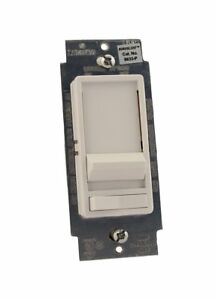 Leviton 6633 plw Decora Slide Dimmer W light On off Switch White Qty 2