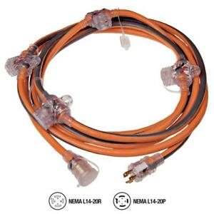 25 Ft Generator Cord With 5 outlet