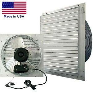 12 Shutter Exhaust Fan 1 100 Cfm 115 V 1 30 Hp 1 Ph 3 Speed Direct