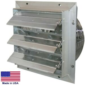 12 Shutter Exhaust Fan 970 Cfm 115 Volt 1 10hp 1 Ph Variable Direct