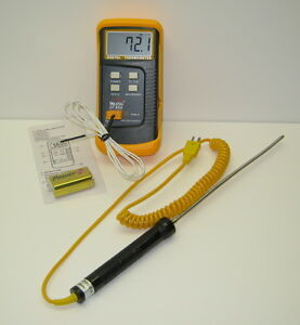 Digital K type Asphalt Thermometer And Sturdy 8 Stainless Steel Probe Ss304 Tc4