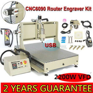2200w 4 Axis Cnc 6090 Router Engraver Kit Usb Mach3 Handwheel Controller Us Top