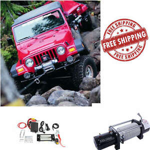 12000lbs Electric Winch 12v Towing Truck Trailer Cable Steel Offroad Remote Ctrl