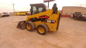 2015 Caterpillar 242d 242 D Cab A c Skid Steer Loader Hyd Quick Attach Used