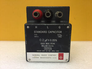 General Radio 1409 u 0 2 Uf 0 05 500 Volts Max Standard Capacitor Tested