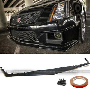 Fit 09 14 Cadillac Cts V 2dr 4dr Wagon Hh Style Front Bumper Lip Body Kit Add On