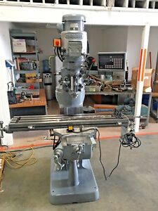 Bridgeport 1 1 2 Hp 9 X 42 Milling Machine With Dro And Power Feed