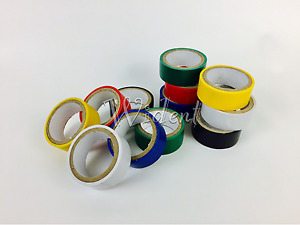 12 Rolls Colored Electrical Tape 3 4 In X 6 6ft Pvc Insulation