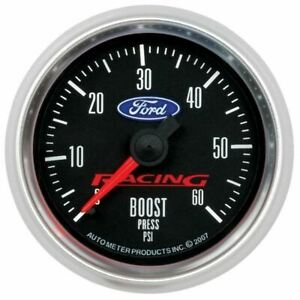 Autometer 880106 Gauge Boost 2 1 16 60psi Mechanical Ford Racing