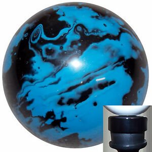 Marbled Black Blue Shift Knob With Black Adapter Kit Fits New Dodge Dart