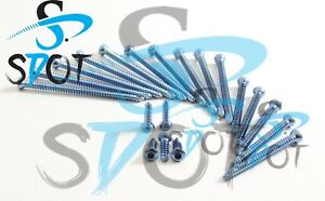 Cortical Cortex Screw 2 7 Mm Self Tapping Titanium 110 Pcs Orthopedic Sdot