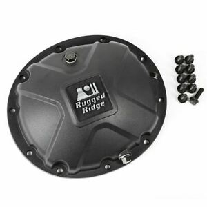 Rugged Ridge Boulder Aluminum Differential Cover Black For Dana 35 84 06 Jeep