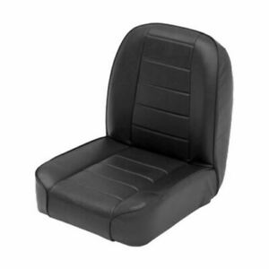Smittybilt 44801 Low Back Bucket Black Black Front Seat