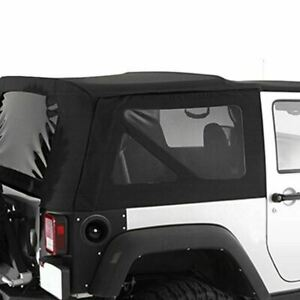 Smittybilt 9075235 Diamond Black Oem Replacement Soft Top With Tinted Windows