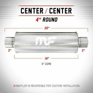 Magnaflow 14419 High Flow Muffler Round 4x4x14 3 in 3 out center center