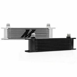 Mishimoto Universal Aluminum 10 Row Oil Cooler Silver Mmoc 10