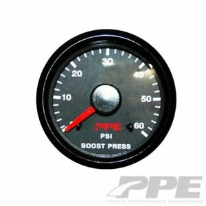Ppe Turbo Boost Pressure Gauge 0 60 Psi Chevy Ford Dodge Diesel Truck