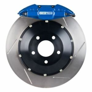 Stoptech Big Brake Kit Blue Caliper Slotted Two piece Rotor Rear