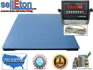 new 60 X 60 Industrial Floor Scale Warehouse Digital With 20 000 Lbs X 5 Lb