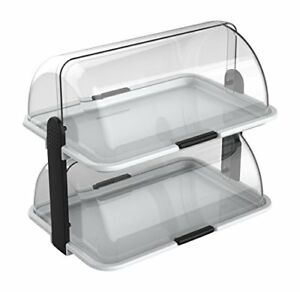 Double decker Countertop Bakery Display Case With 44 5 L X 30 5 W X 40 5 H Cm