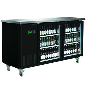 Maxx Cold 69 2 Commercial 2 Glass Door Back Bar Beer Bottle Refrigerator Cooler