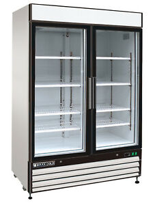 Maxx Cold 54 Commercial Two 2 Double Glass Door Nsf Merchandiser Freezer 48cf