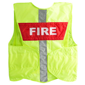 Statpacks G3 Safety Vest Replacement Name Plate Red Fire
