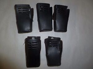 Lot Of Five Used Oem Motorola Ht1250 Ht750 Leather Holsters Hln9676a