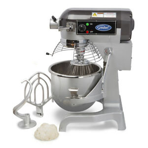 General Gem120 Commercial Nsf 20qt Planetary Stand Mixer W Timer 1 5hp 12 Hub